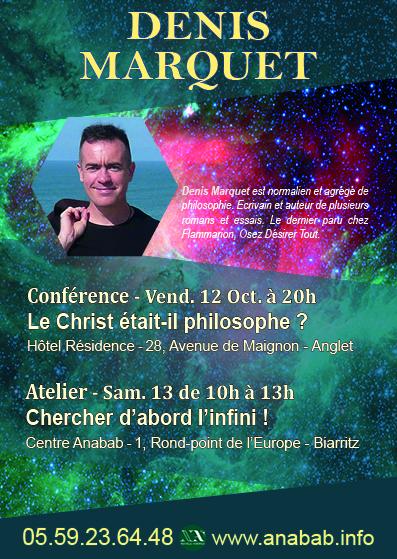 Vendredi 12 octobre 2018 à 20h - Biarritz - Le Christ était-il philosophe ?