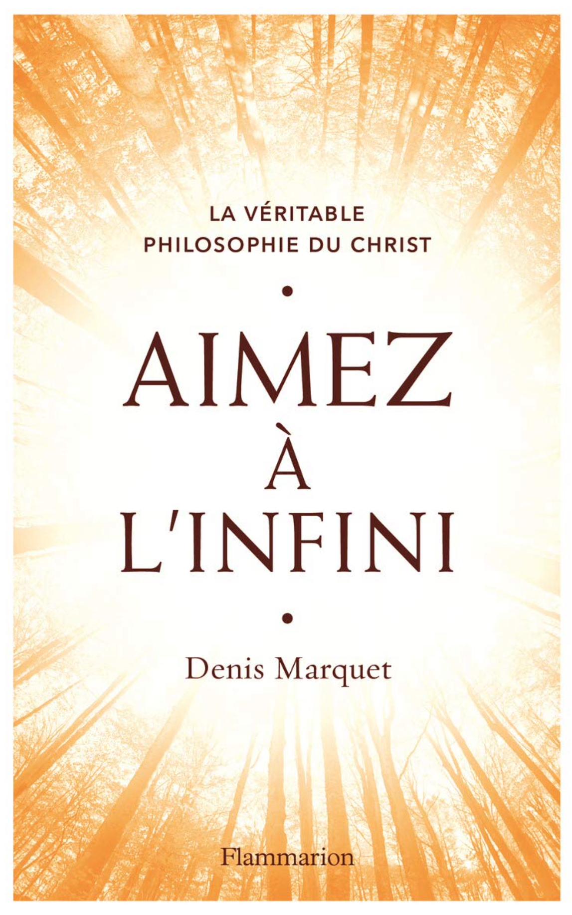 Mercredi 13 mars 2019 : sortie de mon livre  : Aimez à l'infini - La véritable philosophie du Christ