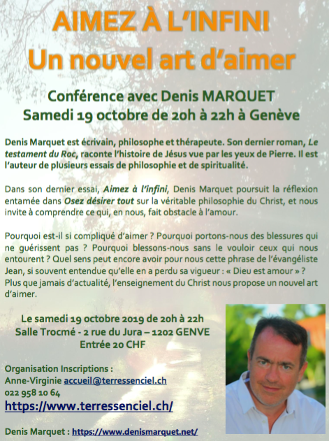 Samedi 19 octobre à 20h - Salle Trocmé - 2 rue du Jura – 1202 - Genève